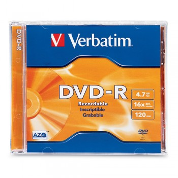 Verbatim DVD-R 16X 4.7GB 120MIN With Case