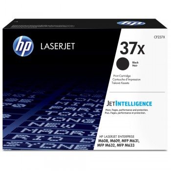 HP 37X High Yield Black Original LaserJet Toner Cartridge (CF237X)
